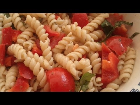 How to make Pasta in the Microwave - fast easy and healthy vegetarian and vegan recipe