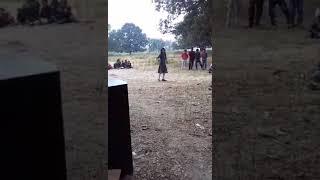 Little girl dance in school