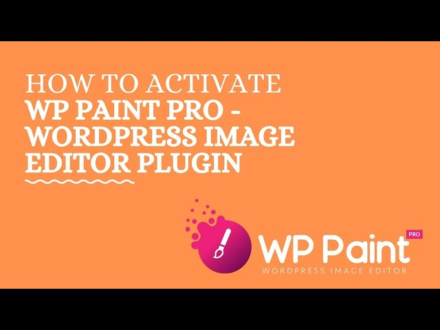 How to activate WP Paint Pro - WordPress Image Editor Plugin