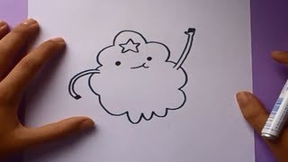 Como dibujar a Princesa grumosa paso a paso - Hora de aventuras | How to draw Princess lumpy