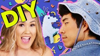 LaurDIY walks us through the raddest 90s crafts, including bedazzling, sand art, and pearler beads. Will Eugene's creations be perfect? (Duh, of course they will) ...