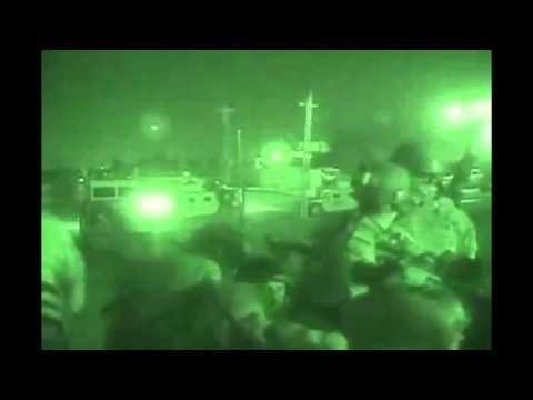 Heavy firefight at night in Iraq