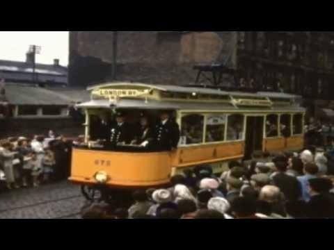 Glasgow's last tram procession