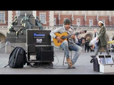 Amazing street guitar performance by Imad Fares ' Gipsy Kings ' cover
