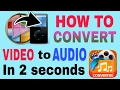 Hindi | How to convert Video to Audio in 2 seconds without converter | Tech episode #1