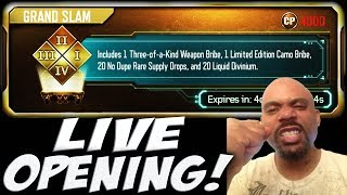BLACK OPS 3 GRAND SLAM & GRAND SLAMMED LIVE SUPPLY DROP OPENING!