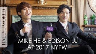 Mike He & Edison Lu at 2017 Men's Fashion Week in NYC! 賀軍翔 呂白聚紐約男裝週