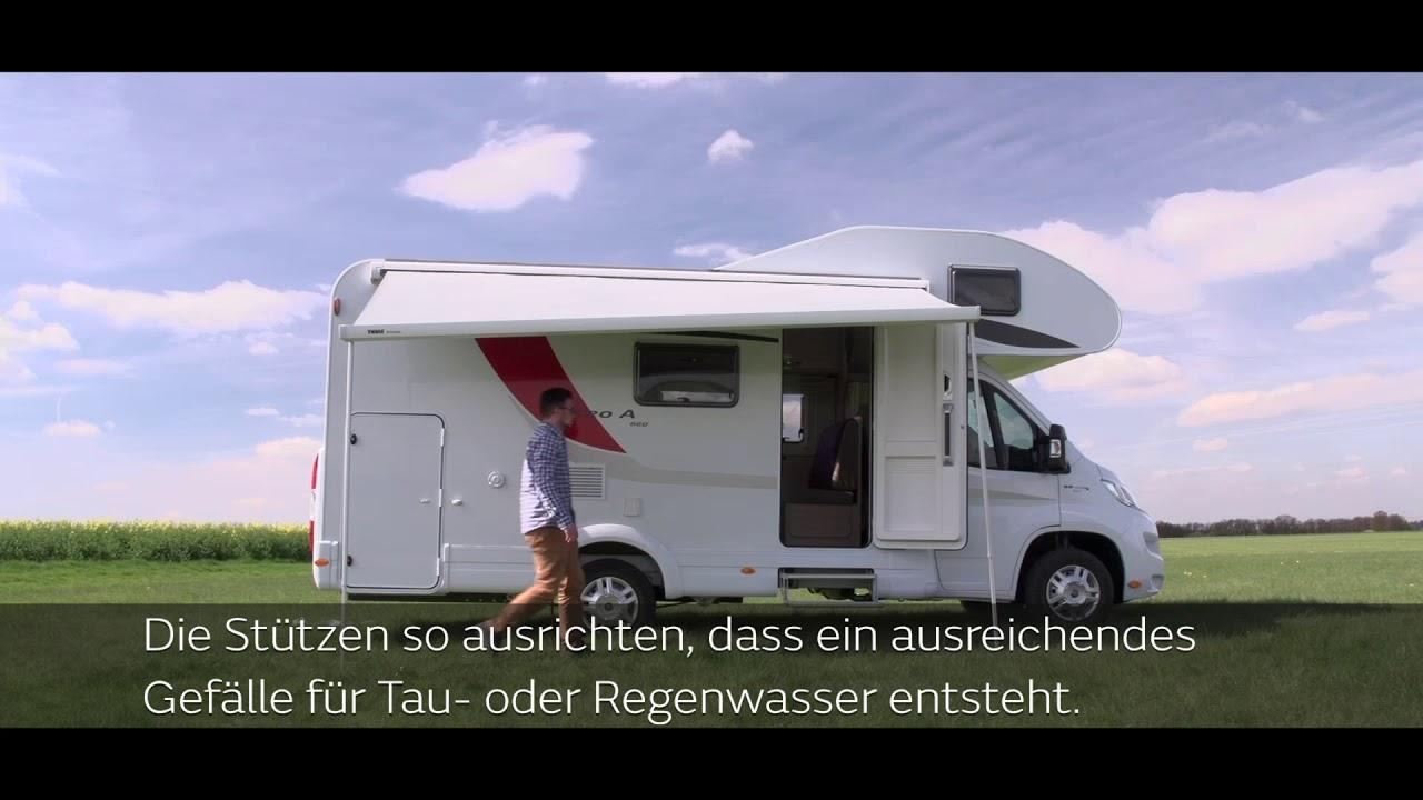 Bürstner: Bedienung eines Wohnmobils – Markise