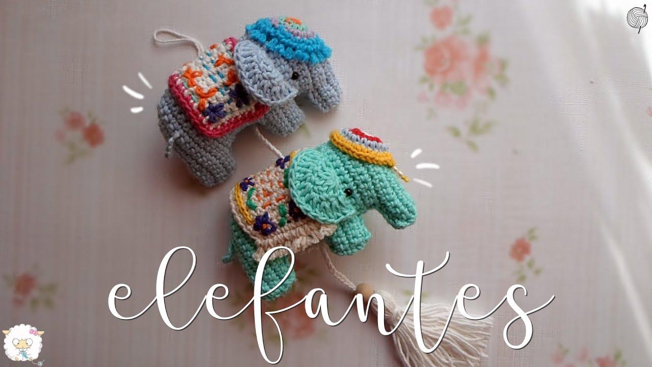 Colgante de elefantes a crochet | ENGLISH SUBTITLES - YouTube