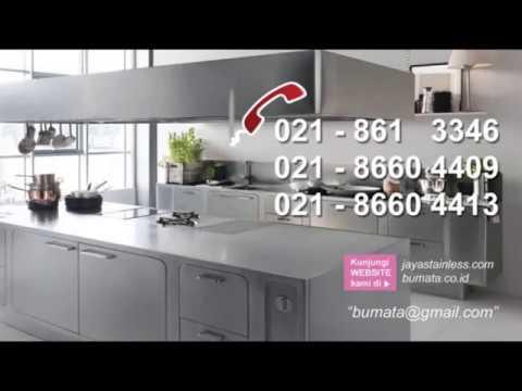 081310045708 Kitchen Set Stainless Steel Model Kitchen Set