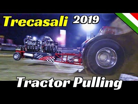 Tractor Pulling Trecasali 2019 - ITPO + Fast Pulling Guests  - Huge Flames, Wheelies & Pure Sound!