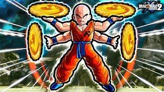 THIS NEW MANGA KRILLIN IS BEYOND HUMAN! Dragon Ball Xenoverse 2 Super Krillin Custom Skills