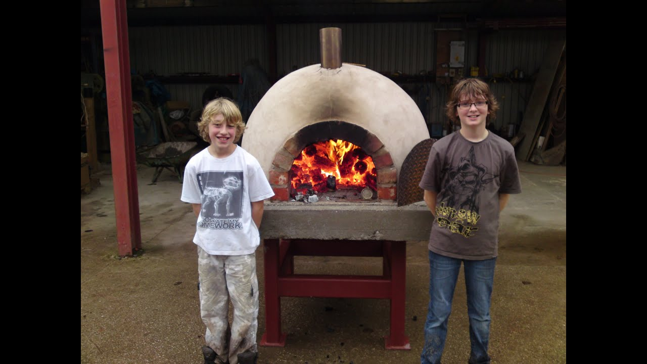 how to build make a homemade wood fired clay brick pizza oven youtube
