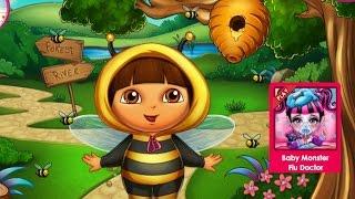 Даша путешественница Игры—Дашу покусали пчелы—Онлайн Видео Игры Для Детей Мультфильм 2015