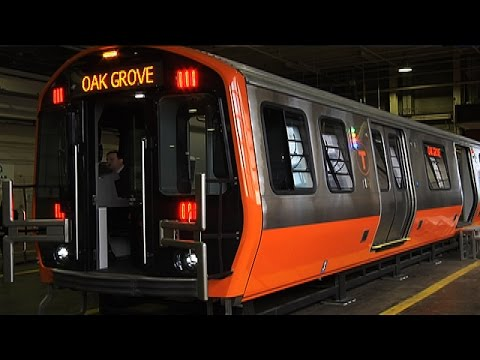 MBTA Shows New Orange Line Model