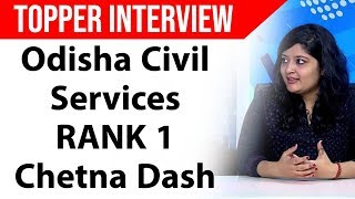 How to prepare for Odisha Civil Services -  Strategy by RANK 1 Chetna Dash, OPSC Topper Interview thumbnail