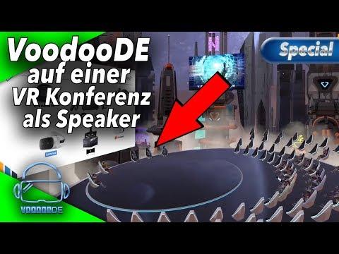 VoodooDE auf der Bühne - Meine erste VR Konferenz [Thema VR Arcades][German][Virtual Reality]