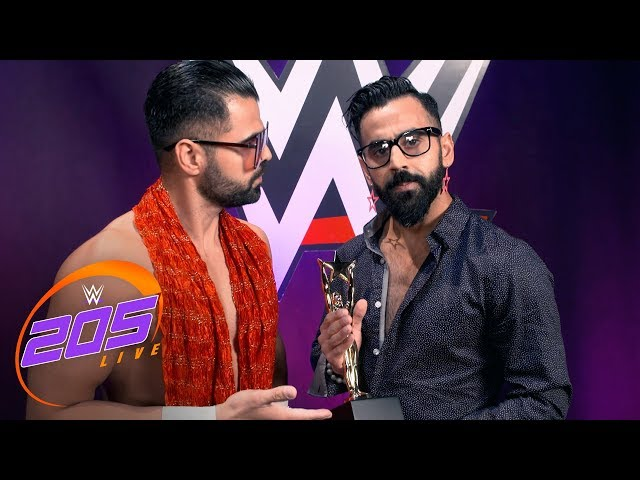 The Singh Brothers present a Boscar Award to John Cena: 205 Live Exclusive, June