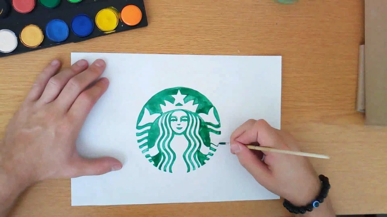 How To Draw A Starbucks Logo