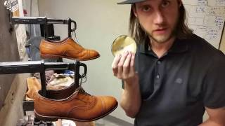 How to shine shoes, with narrative and rubbing