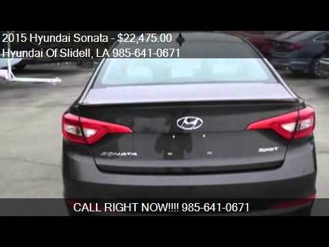 2015 hyundai sonata for sale in slidell la 70461 at the hyu youtube. Black Bedroom Furniture Sets. Home Design Ideas