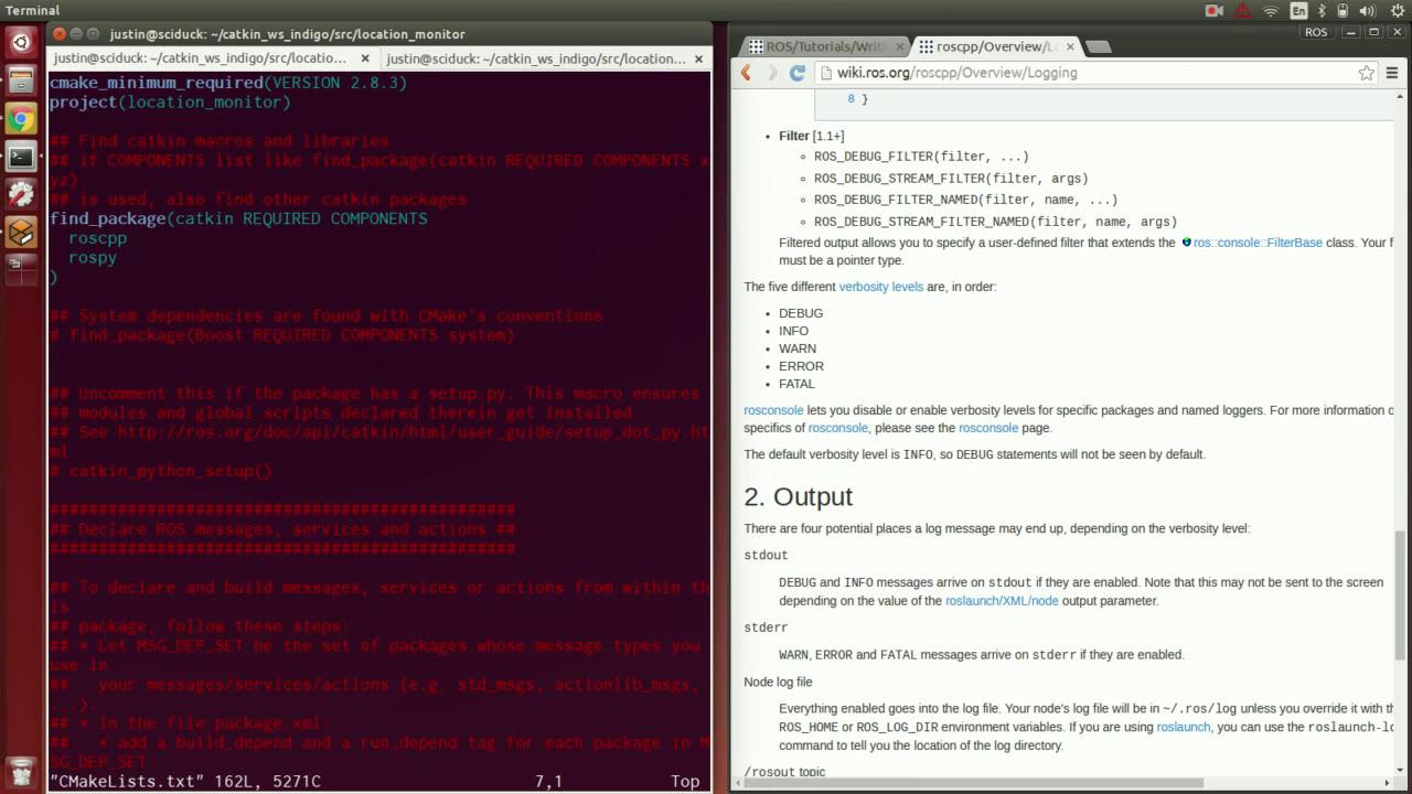Ros Tutorial #2 1: C++ Walkthrough Of Publisher / Subscriber Lab  Justin  Huang 41:28 HD
