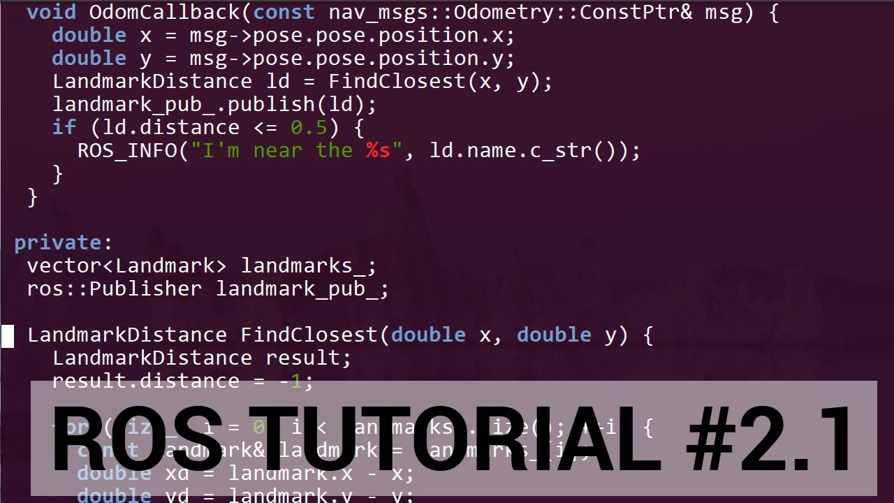 ROS tutorial #2 1: C++ walkthrough of publisher / subscriber lab