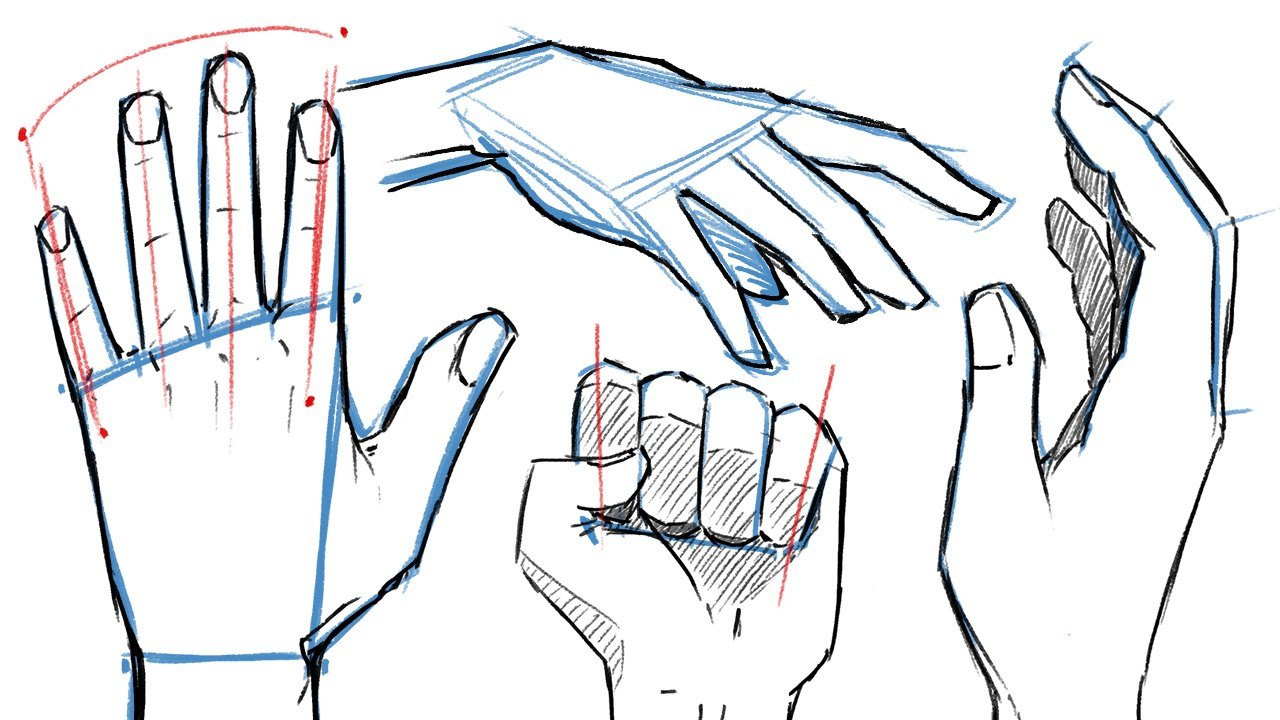 How to draw hands and hand poses youtube