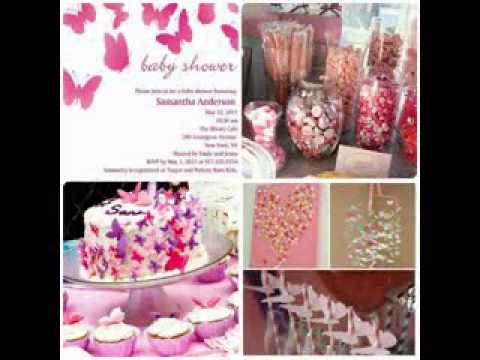 Diy girl baby shower invitation decorations youtube - Decoration baby shower girl ...