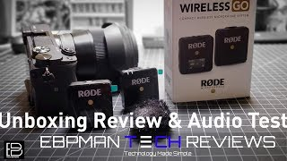 Rode Wireless Go Unboxing & Real Audio Test of World's Smallest Microphone System
