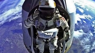 Felix Baumgartner - Highest Skydive EVER - 24.2 Miles up! (World Record) 720p
