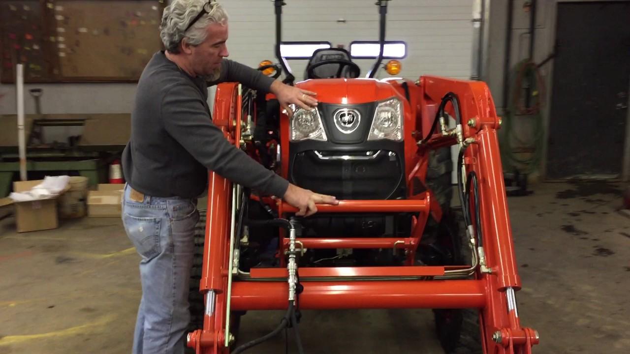Kioti DK4510 Shuttle Tractor w/ Loader & Plow Walkthru