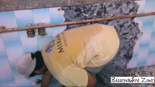 Ремонт бассейна через 25 лет. Замена старой плитки на стеклокерамику.(, 2016-08-31T20:35:44.000Z)