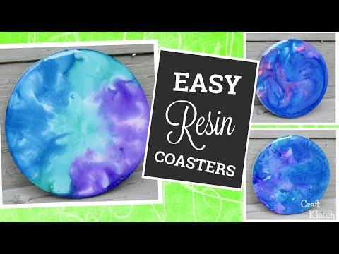 DIY Easy Alcohol Ink Resin Coasters | Another Coaster Friday | Craft Klatch