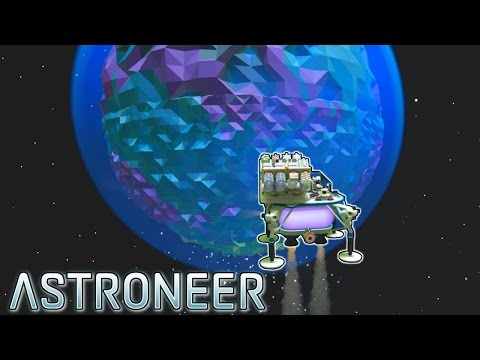Building the Spaceship + SPACE! - [Ep.4] - Let's play Astroneer Gameplay