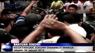 Jokowi Kunjungi Korban Banjir di Muara Baru