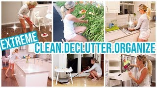 EXTREME CLEAN, DECLUTTER, AND ORGANIZE // CLEAN WITH ME 2019 EXTREME CLEANING MOTIVATION