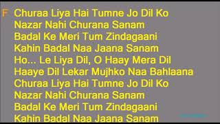 Chura Liya Hai Tumne Jo Dil Ko Lyrics with Karaoke Music  Asha Bhosle Mohammed Rafi Duet Hindi