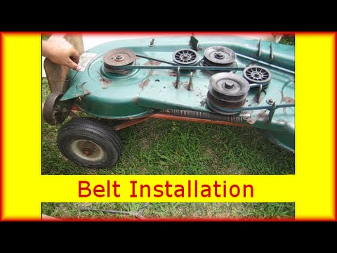 Mtd Deck Belt Replacement Installed Montgomery Wards Lawn