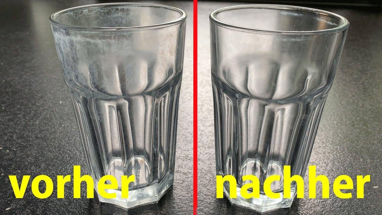 Versuch Milchige Gläser wieder glänzend machen.... Lifehack oder Fake