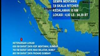 Gempa Mentawai 7,8 SR, Warga Panik Mencari Tempat Yang Tinggi - BIM 02/03
