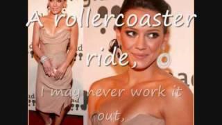Hilary Duff - Anywhere But Here (Full on-screen lyrics and original pics!)