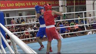 Knock out đối thủ, Nguyễn Tấn Hưng tiếp tục gặt vàng trên sàn đài boxing trẻ
