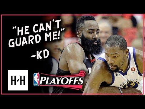 Kevin Durant vs James Harden MVP Duel Highlights | Game 1 & 2 | 2018 Playoffs WCF