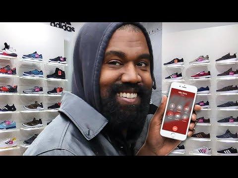 Kanye West Calls The Nike Store!