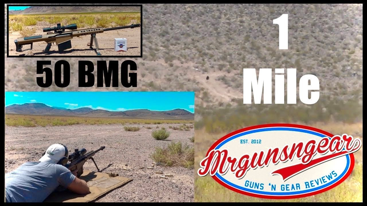 Shooting The Barrett M107A1 50 Caliber Rifle At 1 Mile & Hitting 🇺🇸 (HD)