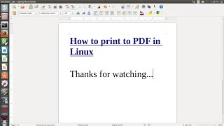 How to print to PDF in Linux