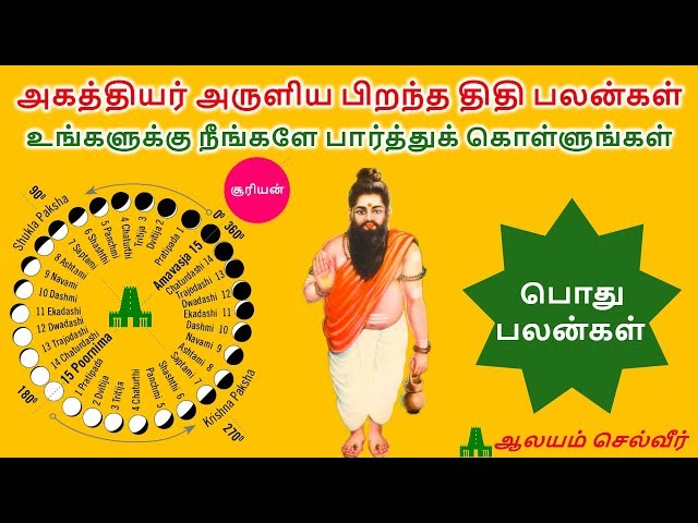 ????????? ?????? ?????? ???? ???????  | Thithi in Tamil | Thithi Palan Lyrics