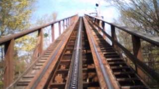 The Beast Wooden Roller Coaster POV Legendary Classic Woodie at Kings Island Ohio