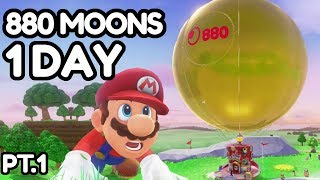 I collected ALL 880 Moons in Super Mario Odyssey in a single day... [1/2]